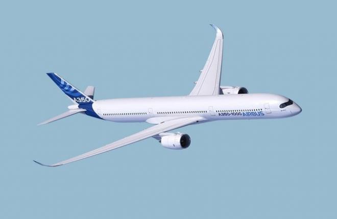 Предел дальности полета A-350 1000 составляет 15,55 тысячи километров