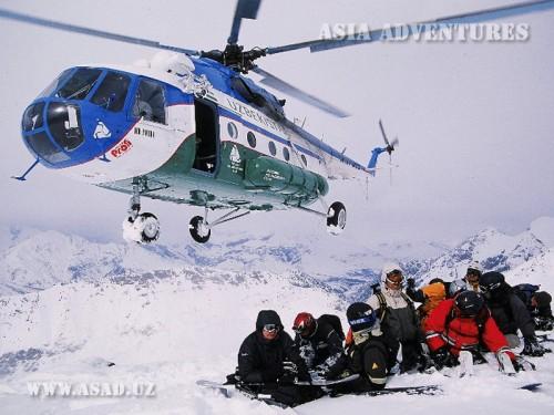 Вертолетный тур Хелиски, хелибординг в Узбекистане
