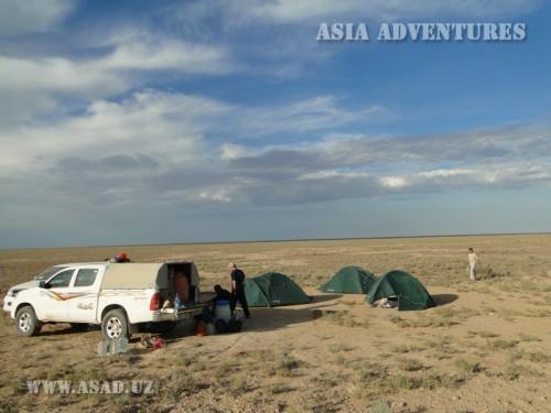 Вертолетный тур На джипах к Аральскому морю