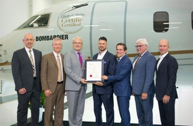 Прошел сертификацию в Канаде Bombardier Global-7500